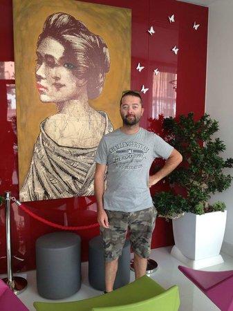 Hotel Cristina : la foto porta fortuna con la cristina !!!