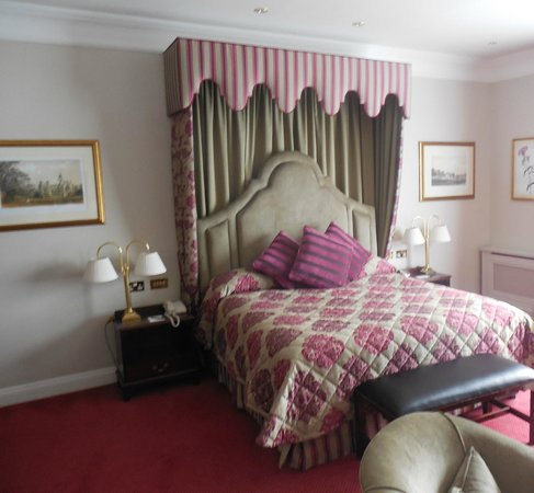 Adare Manor: The elegant queen bed, fit for a queen.