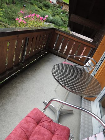 Hotel Silberhorn : The balcony