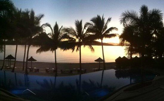 Beach Club: Sunrise from our balcony
