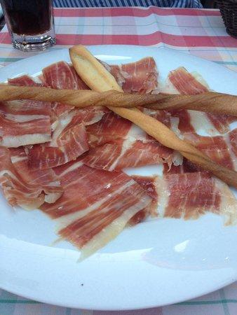 Francucci's Ristorante: Schinken fein geschnitten