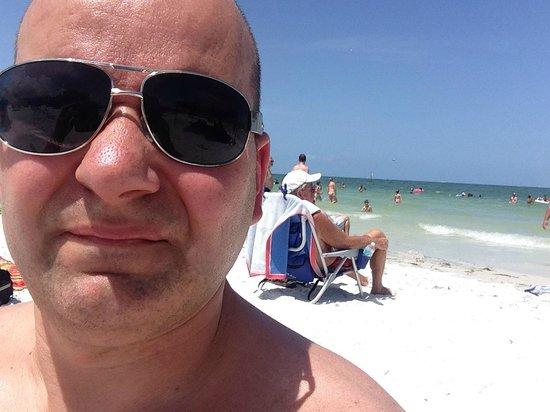 Clearwater Beach: herlig strand, like varmt i vann som i lufta!