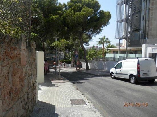 Hotel Marina Torrenova: Strada per la spiaggia