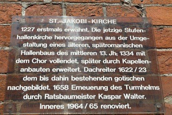 Sankt Jakobi Kirche: Infotafel