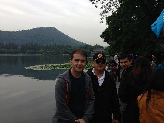 Hangzhou Forest Park : Vista do lago do parque