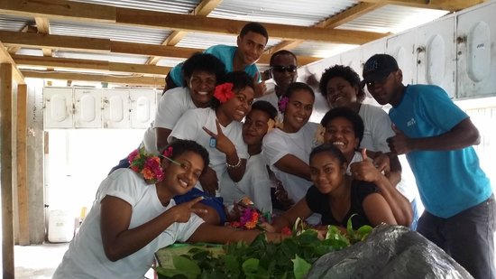 Coralview Island Resort: Some of the staff at Coralview