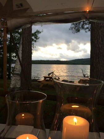 Bald Mountain Camps Resort: Wedding Dinner View