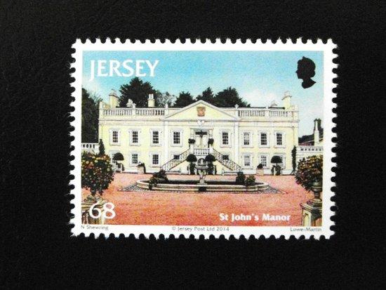 St John Uk S Manor On A Jersey Stamp