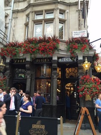 outside of The Red Lion