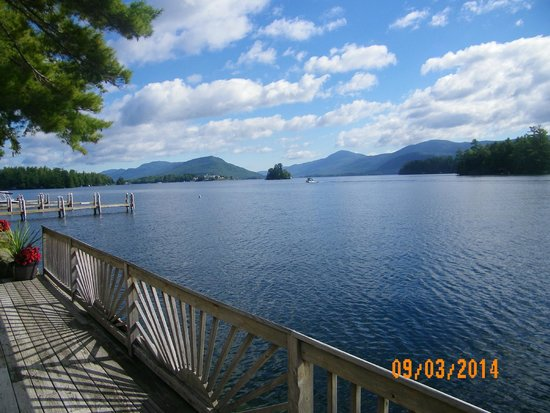 Northward Ho!: Lake George from dock.