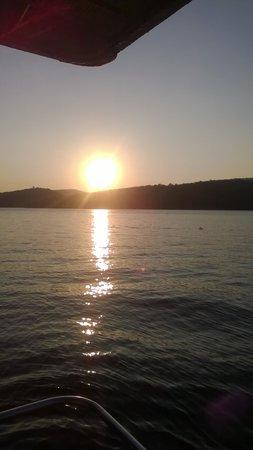 sunset on raystown lake