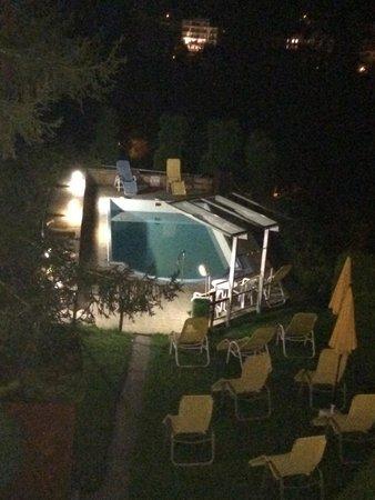 Hotel Alpenblick: Piscina desde la habitación