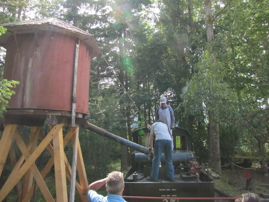 B.C. Forest Discovery Centre : Forest Discovery Centre steam train water station