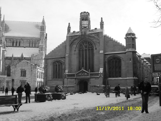 Church of St. Michael le Belfrey: St. Michael Le Belfrey in Snow