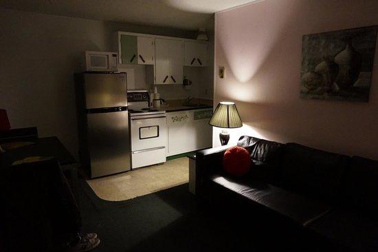 Pass Motor Inn: Le salon/cuisine