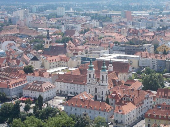 Ibis Graz: A view over beautiful Graz from the Schlossberg