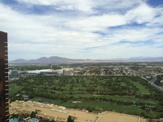 The Palazzo Resort Hotel Casino: view from room, 45th floor