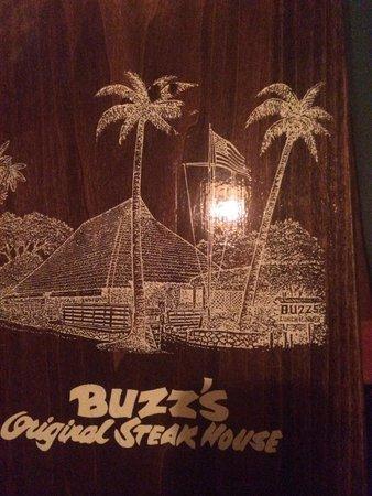 Buzz's Original Steak House: Sign