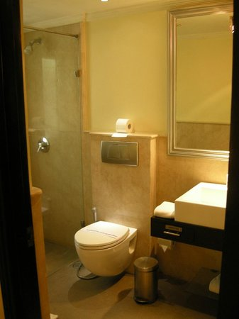 Casa de Bengaluru: The bathroom (facing the foot of the bed)