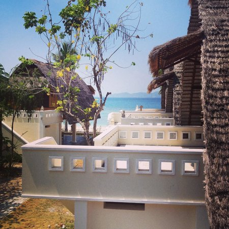 "Gili Nanggu Cottages and Bungalows: Blick von Bungalow ""ohne Meerblick"""