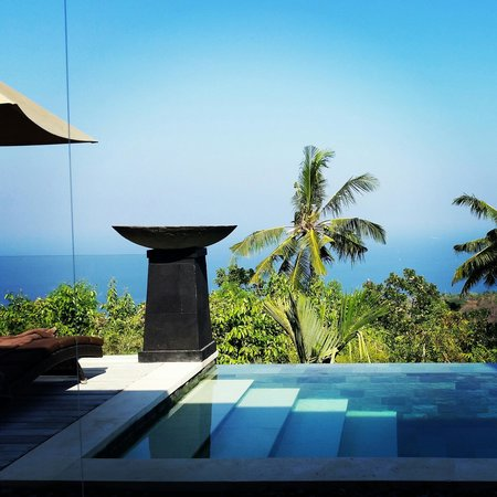 The Puncak: the pool outside your room