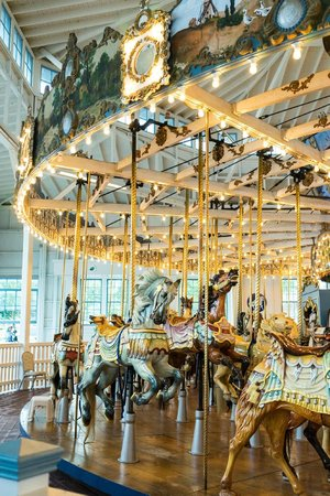 Light Show Picture Of Carousel At Lighthouse Point Park
