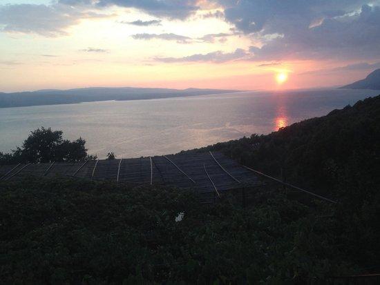 Konoba Galinac: Aussicht vom Restaurant (innen)