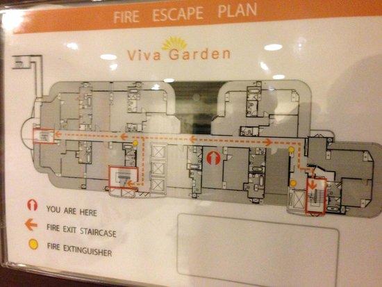 Viva Garden Serviced Residence : floor plan
