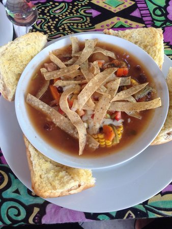 Caribbean Colors Art Cafe : mexican tortilla soup