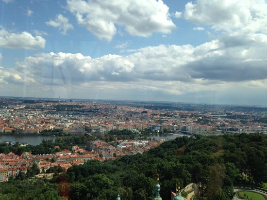 Petrin Tower (Rozhledna): Views from the lower observation platform