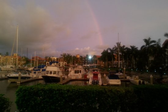 El Cid Marina Beach Hotel: Rainbow at the Marina