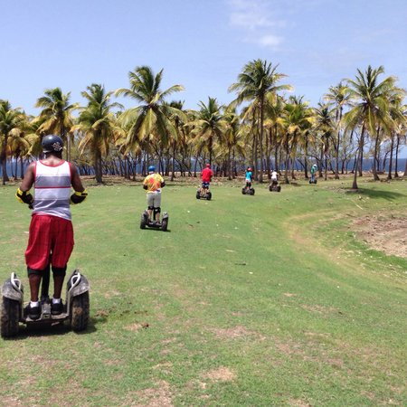 Segway Barbados: The crew heading to see the coast