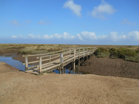 Marshland bridge to cross the river Stiffkey - Picture of High ...