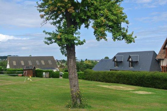 Camping La Vallee: La vue depuis l'emplacement en août !