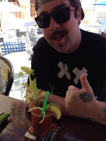 Casino Dock Cafe: Kino of CSC enjoying an Ultimate Bloody Mary.