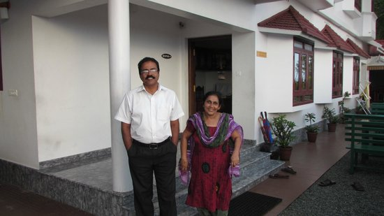 Cherai Beach Residency: hotel owners-Mr.Poly and Mrs. Jessy