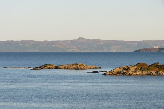 Tigh a Cladach: View from the garden to Raasay