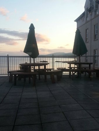 Redcastle Hotel: View from balcony of Edge restaurant