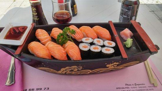 Yama Sushi: Nigri Saumon (17.90€)