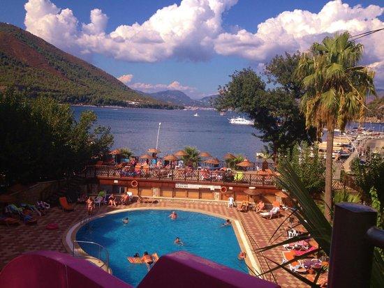 Golmar Beach Hotel: view from the slide