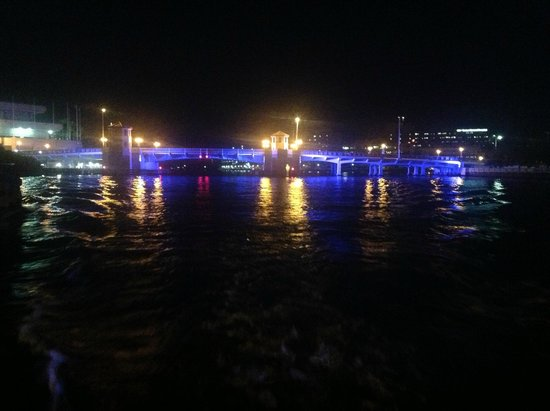 Tampa Water Taxi Company: Tampa bridges at night
