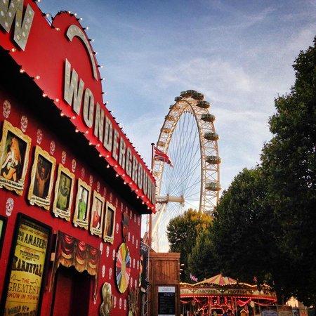 London Wonderground: London Eye from Wonderground