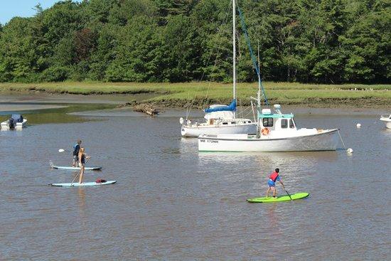 Nonantum Resort: Paddle-boarding on the Kennebunk River