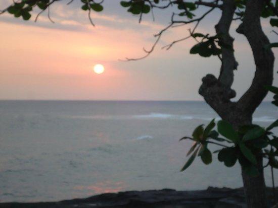 Gajah mina beach resort sunset from the point
