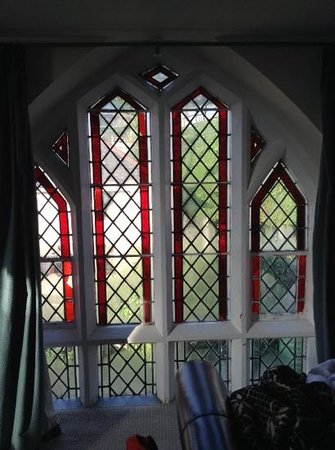 The Belfry at Yarcombe: the window in ouramazing room. wonderful feature.