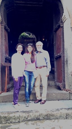 Fort JadhavGADH: Anand and Veena Khandekar with their grand daughter  Zui