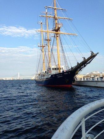 Pacifico Yokohama Seaside Park : 船がいましたね。