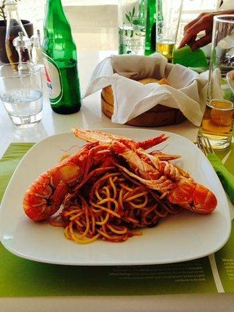 Elia Beach Restaurant: crayfish spaghetti