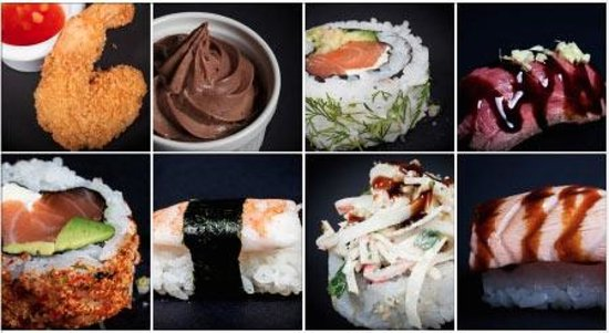 OSUSHI The Train: some dishes from the menu