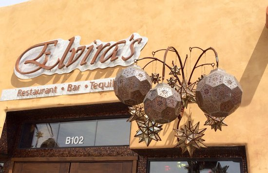 Elvira's: Setting the stage for what's to come inside!